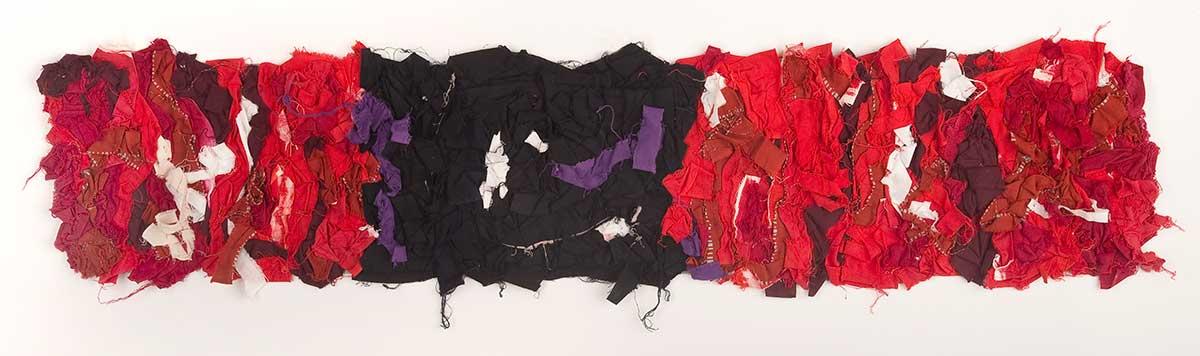 Arigato: Boro Boro Byobu 7 - Red /Black © Susan Ball Faeder