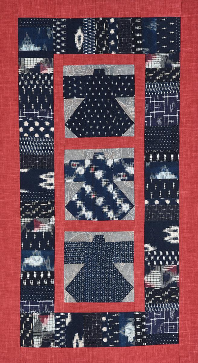 Kasuri Kimono with Red Border © Susan Ball Faeder