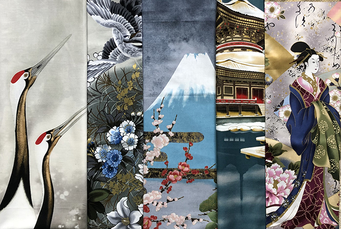Bonus Offer Japanese Fabric © Susan Ball Faeder